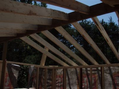 Cabin -Building the Roof (12)