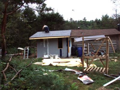 Cabin: Working the Roof (4)